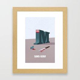 Sans-Serif Framed Art Print