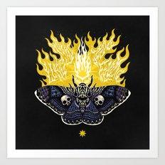 Moths to a Flame Art Print