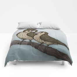 Love sparrows Comforters