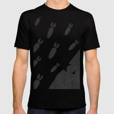 living with air strikes - an illustrated guide Mens Fitted Tee Black MEDIUM