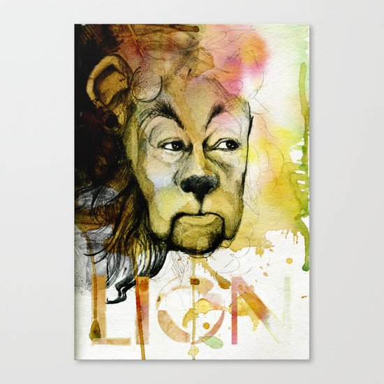 Cowardly Canvas Print