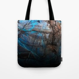 Deep Blue Marble - Ombre black Tote Bag