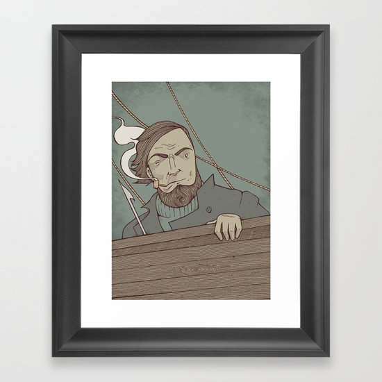 Ahab and the Whale Framed Art Print