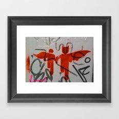 Super Heroes Framed Art Print
