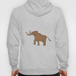Woolly Mammoth Prancing Drawing Hoody