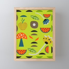 Modern decor with fruits and flowers Framed Mini Art Print