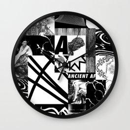 B/W composition Wall Clock