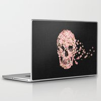 skull Laptop & iPad Skins featuring A Beautiful Death  by Terry Fan