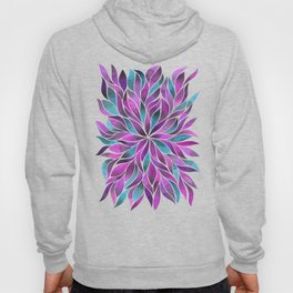 Floral Vines - Pink and Blue Hoody