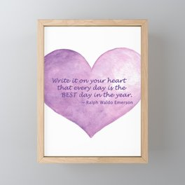 Heart Quote Framed Mini Art Print