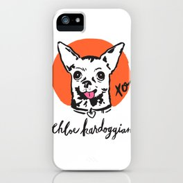 Chloe Kardoggian Illustration with Signature iPhone Case