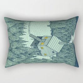 'The Middle Of Nowhere' Colour Rectangular Pillow