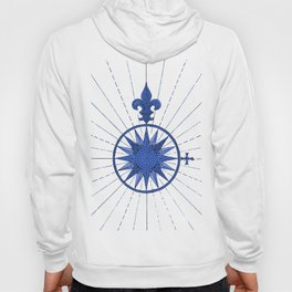 Nautical French Blue Compass Rose Hoody