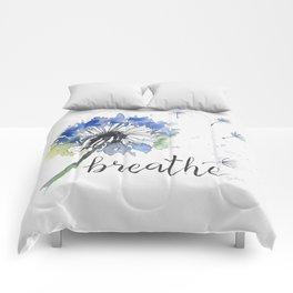 Breathe! Dandelion Floral Botanical Art Comforters