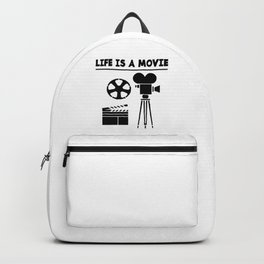 LIFE IS A MOVIE Backpack