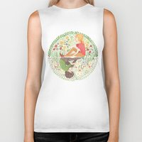 grantaire Biker Tanks featuring The Law of Complementary Colours by foxflowers