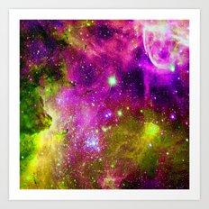 fuchsia space Art Print