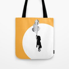 Little Girl With Balloons 2 Tote Bag