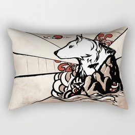 Wolf Ukiyo-e Rectangular Pillow