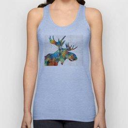 Colorful Moose Art - Confetti - By Sharon Cummings Unisex Tank Top