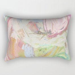 Shapes and Layers no.31 - Abstract paintings with texture Rectangular Pillow