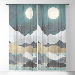 Ocean Stars Sheer Curtain