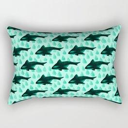 Whale pattern Rectangular Pillow