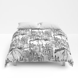 Dragon Kingdom Winter Toile Comforters