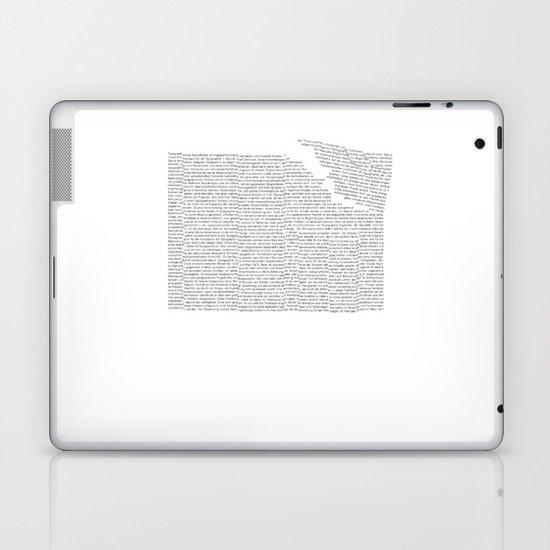 Erosion & Typography 2 Laptop & iPad Skin