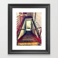 RED RAILS Framed Art Print