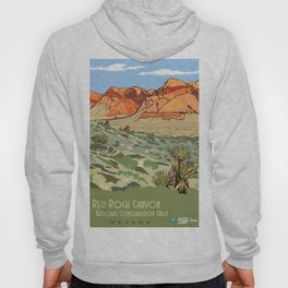 Vintage Poster - Red Rock Canyon National Conservation Area, Nevada (2015) Hoody