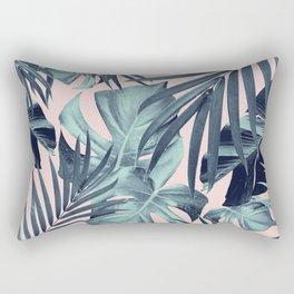 Tropical Jungle Leaves Pattern #8 #tropical #decor #art #society6 Rectangular Pillow