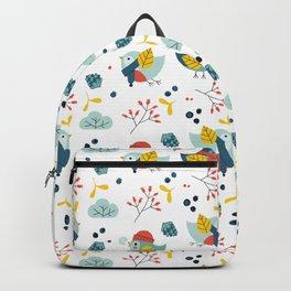 winter birds pattern Backpack