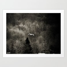 It's Lonely Out Here in Winter Art Print