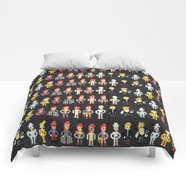 Bowie pixel characters Comforters