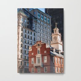 A Golden Day - Boston Old State House Metal Print