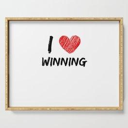 I Love Winning Serving Tray