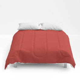 PANTONE 18-1550 Aurora Red Comforters
