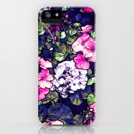Pink Geraniums, Goddess Energy iPhone Case