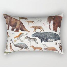 Animal chart of the Holocene extinction Rectangular Pillow