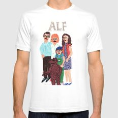 Alf White LARGE Mens Fitted Tee