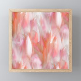 Pink Tulips Abstract Nature Spring Atmosphere Framed Mini Art Print