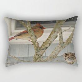 Winter Gathering Rectangular Pillow