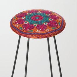 Colorful Mandala Pattern 017 Counter Stool
