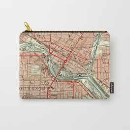 Vintage Map of Youngstown Ohio (1951) Carry-All Pouch