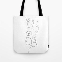Lovers - Minimal Line Drawing Art Print 2 Tote Bag