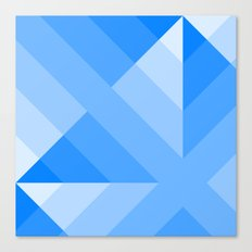 Blue Gradient abstract Canvas Print