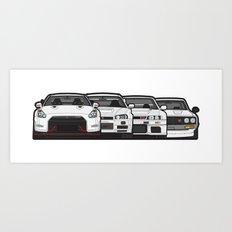 SKYLINE GT-R Art Print