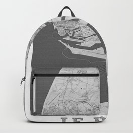 Le Havre Pencil City Map Backpack