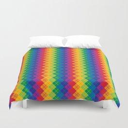Rainbow Argyle Duvet Cover
